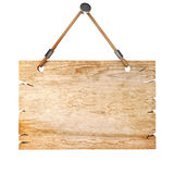 3d blank wooden sign board Stock Image