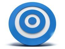 3d blauw doel Stock Foto