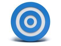 3d blauw doel Stock Foto's