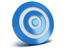 3d blauw doel Royalty-vrije Stock Foto
