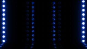 3d Blauw van de het aftasten4k LIJN van het gloeilampenstadium horizontale vector illustratie