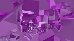 3d blauw van de kubussenpiramide Royalty-vrije Stock Foto