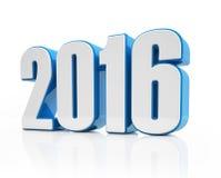 3d - 2016 - blauw-wit Stock Foto's