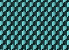 3d blauwachtige textuur met schaduwen en kubussen Stock Fotografie