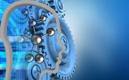 3d blauwe toestellen Stock Foto