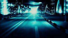 3D Blauwe van de de Lichtenvj Lijn van de Stadsnacht van de de Motie Grafische Background3D Groene Nacht van de de Lijnmotie van