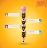 3D Bleistift Infographics. Stockbilder