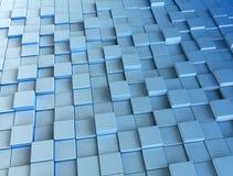 3d bleu cube le fond numérique Photographie stock libre de droits