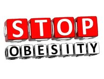 3D Block Red Text STOP OBESITY over white background. 3D Block Red Text STOP OBESITY over white background Stock Photo