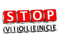 3D Block Red Text STOP VIOLENCE over white background. 3D Block Red Text STOP VIOLENCE over white background Royalty Free Stock Photography