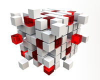 3D blocks. Abstract background of 3d blocks Stock Photography
