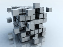 3D blocks. Abstract background of 3d blocks Stock Photos