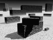 3D blocks. Abstract background of 3d blocks stock illustration