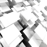 3D Blocks Background. 3D Futuristic Blocks Background On Gray Background royalty free illustration