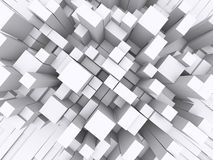 3d blocks. Crowded 3d blocks upper view Royalty Free Stock Photography