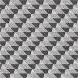 3d blocks structure background. Black and white grainy design. Pointillism pattern. Stippling effect. Vector illustration Stock Image