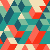 3d blocks structure background. Geometric pattern. Vector illustration.  Stock Photography