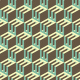 3d blocks structure background. Seamless geometric Stock Photography
