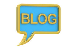 3D Blog concept. Blog concept, 3D rendering on white background Stock Image