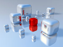 3D blokken Stock Afbeeldingen