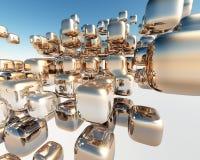 3D blokken Royalty-vrije Stock Afbeeldingen