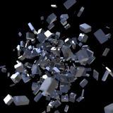 3D Blokkenexplosie Stock Afbeeldingen