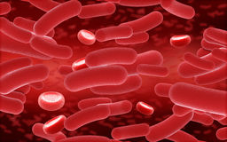 3D blood and virus cells Royalty Free Stock Photography