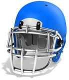 3d Blue American football helmet. On a white background Royalty Free Stock Photography