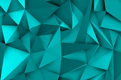 3d blue background with shadows and triangular shapes. For modern environment Stock Photo
