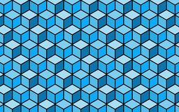 3D blue box pattern design. 3D blue box pattern background design Stock Photo