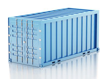 3d Blue cargo container. Industry concept. Royalty Free Stock Images