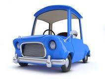 3d Blue cartoon car. 3d Close up render of a blue cartoon car Royalty Free Stock Photo