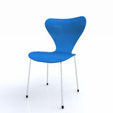 3D blue chair. 3D rendering of an isolated blue chair Royalty Free Stock Images