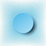 3d blue circle paper  design on halftone dots pattern for abstract background concept Stock Photos