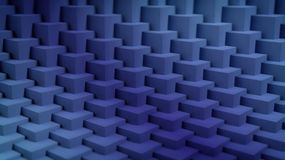 3D blue cubes background. 3D rendering of blue cubes background Stock Image