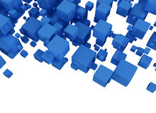 3D Blue Cubes Royalty Free Stock Photography