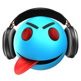 3d blue emoticon smile Royalty Free Stock Photography