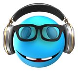 3d blue emoticon smile Stock Image