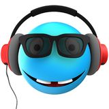 3d blue emoticon smile Stock Image