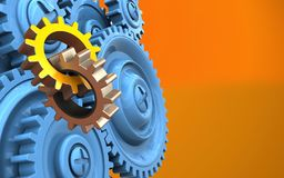 3d blue gears Royalty Free Stock Photos