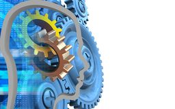 3d blue gears Royalty Free Stock Images