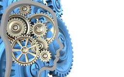 3d blue gears Royalty Free Stock Image