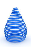 3d blue glossy and shinny abstract spring. 3d illustration of blue spring on white background Stock Images