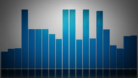 3d blue graphic bar stock footage