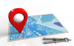 3d blue map Stock Images