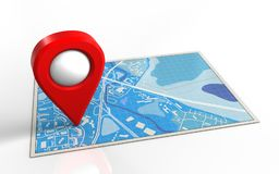 3d blue map Stock Photos