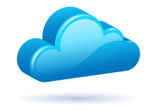 3D Blue Modern Cloud. Floating 3D blue modern cloud vector Royalty Free Stock Images