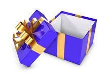 3d Blue open gift Stock Photography