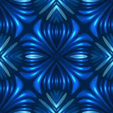 3d blue seamless floral abstract background.  vector illustration