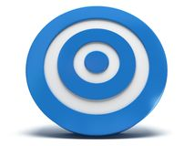 3d blue target. Illustration of 3d blue darts target  on white back Stock Photo